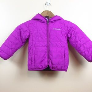 Purple Columbia Puffer Jacket